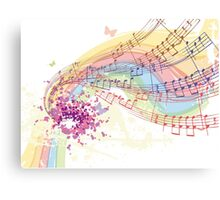 notes and chords Canvas Print