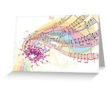 notes and chords Greeting Card