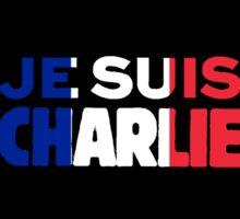 Je Suis Charlie -I am Charlie- Tri-Color of France Sticker