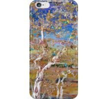 Solace - mixed media birches iPhone Case/Skin