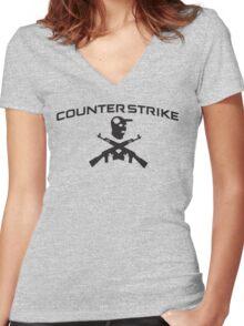 Counter-Strike T-Shirt Women's Fitted V-Neck T-Shirt