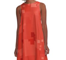 Fiesta Square Pixel Color Accent A-Line Dress