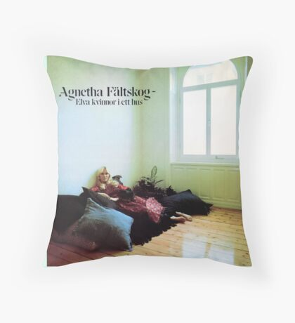 Agnetha Faltskog from Abba wonderful cover album design!~ Throw Pillow