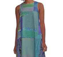 BY THE BAY-ABSTRACT A-Line Dress