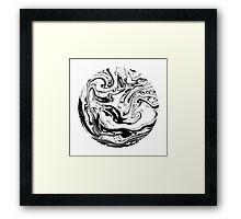 Black & White. Circle #1 Framed Print