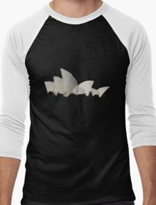 Polytecture Art : Opera House of Sydney Men's Baseball ¾ T-Shirt