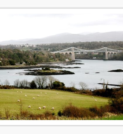 Menai bridge.  Sticker