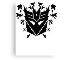 Deceptiblot (black) Canvas Print