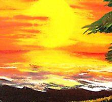 Hot Sunset ..........Melting Palm Sticker