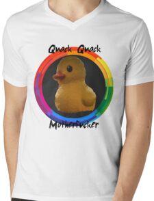 Polygon art : Quack Quack MotherFucker Mens V-Neck T-Shirt