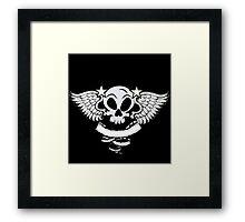Winged Skull Framed Print