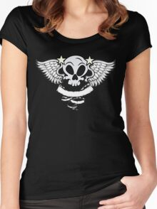Winged Skull Women's Fitted Scoop T-Shirt