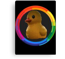 Polygon art : Duck Quack Quack Canvas Print