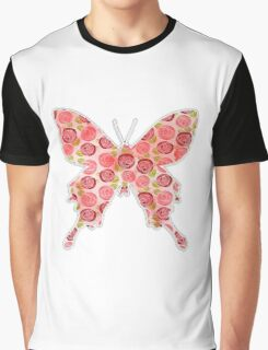 Flower filled in Butterfly Graphic T-Shirt