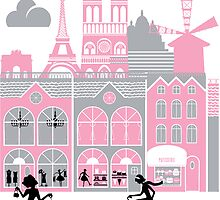 A view of Paris, France by Fanatic  Studio