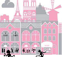 A view of Paris, France by Fanatic  Studio