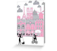 A view of Paris, France Greeting Card