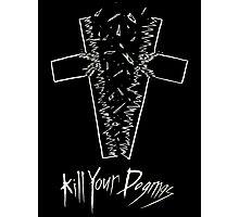 Kill Your Dogmas- White on Black Photographic Print