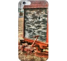 Attractive Tractor .. closer view iPhone Case/Skin