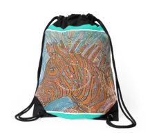 Hippy zebra  Drawstring Bag