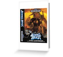 Altered Beast Greeting Card