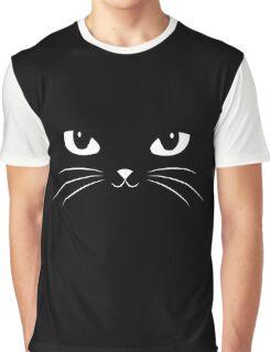 Cute Black Cat Graphic T-Shirt