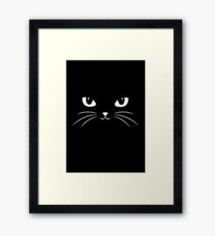 Cute Black Cat Framed Print