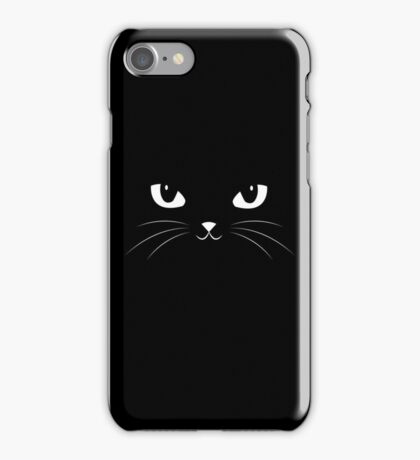 Cute Black Cat iPhone Case/Skin