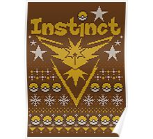 Instinct Ugly Sweater Poster