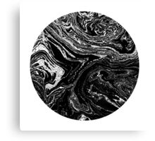Black & White. Circle #2 Canvas Print