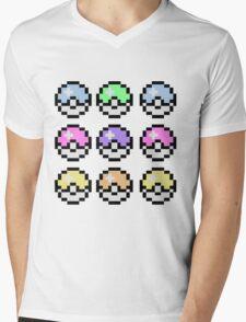 Pokemon Pastel Mens V-Neck T-Shirt