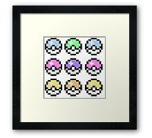 Pokemon Pastel Framed Print