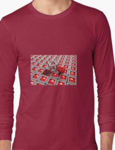 Red Chrome out of Box Long Sleeve T-Shirt