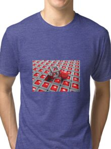 Red Chrome out of Box Tri-blend T-Shirt