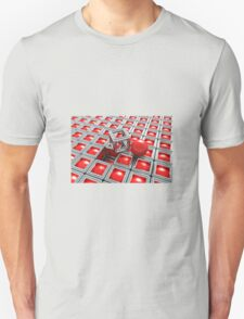 Red Chrome out of Box Unisex T-Shirt