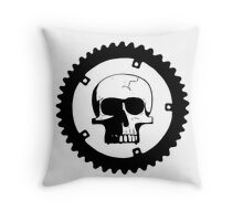 Sprocket Skull Throw Pillow