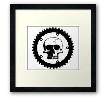 Sprocket Skull Framed Print