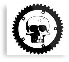 Sprocket Skull Metal Print