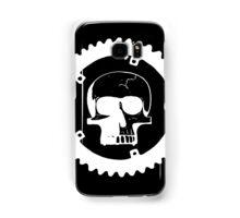 Sprocket Skull- White on Black Samsung Galaxy Case/Skin