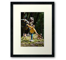 he's gaining! Framed Print