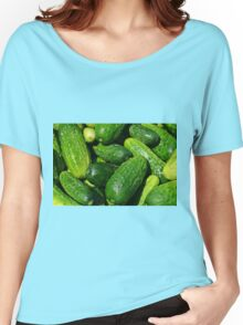 Fresh Cucumbers pile Women's Relaxed Fit T-Shirt