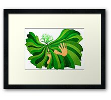 Save Soil Framed Print