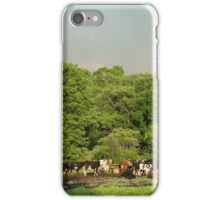 Cows in the coming storm iPhone Case/Skin