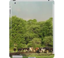 Cows in the coming storm iPad Case/Skin
