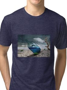 Fish in a bottle with tree, art Tri-blend T-Shirt