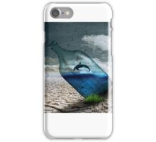 Fish in a bottle with tree, art iPhone Case/Skin