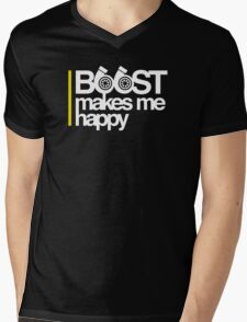 Boost Makes Me Happy Mens V-Neck T-Shirt