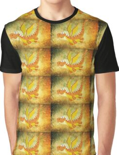 Flying funny Dragon art Graphic T-Shirt