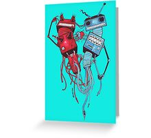 Tentacle Robots Greeting Card