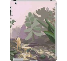 Astronauts exploring an alien sci-fi planet iPad Case/Skin